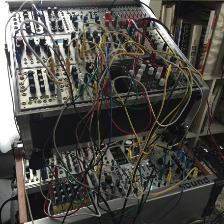 Justin Boyd's modular synthesizer, image courtesy Justin Boyd